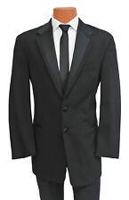 Men's Black Perry Ellis Vail Tuxedo with Pants Two Button Framed Satin Lapels
