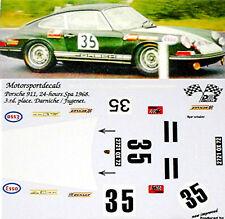 Porsche 911 Spa 1968 #35 3.rd.place 1:24 Autocollant Décalcomanie