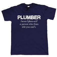 IDRAULICO da Uomo Divertente T Shirt-Regalo Per Lui Dad