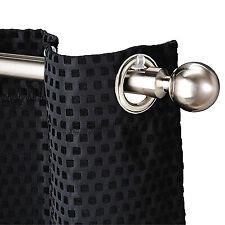 Speedy Poles Apart 28mm Eyelet Perfect Pleat Curtain Pole, Satin Silver