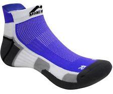 More Mile Calzini da corsa Miami, Bianco Blu, CALZINO Sneaker