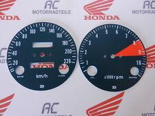 Honda CB 750 Four K1 Gauge Face Plates Kit Tacho Speedo DZM KM/H RPM