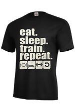 Eat Sleep Train Repeat Men's Gym T Shirt ASSORTED COLORS BEST SELLER S-5XL