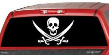 PIRATE FLAG Rear Window Graphic Decal Tint Sticker Truck suv ute B/W