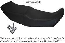 CARBON FIBRE VINYL CUSTOM FITS BMW K75 K100 K1100 DUAL REAL VINYL SEAT COVER