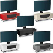 Alphason Chromium High Gloss Cantilever TV Stand Unit Remote Friendly Glass