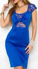 Sexy Miss Daman mini vestido de fiesta dress punta bucle S/M 34/36 M/L 36/38 azul