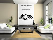 SANCTUARIES EDGE WALL ART MOUNTAIN BASE CAMP VINYL STICKER DECAL  ROCK CLIMBING