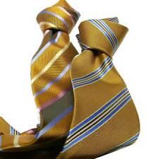 CRAVATTE gialle a righe cravatta giallo ocra oro a righette uomo classe e stile