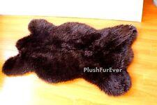 Premium Faux Fur Bearskin Rug Realistic Shape Shaggy Fake Fur Carpet Mat Modern