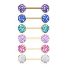 Brustwarzenpiercing - Nippelpiercing Synthetik Glitter Piercing 14mm Barbell#602