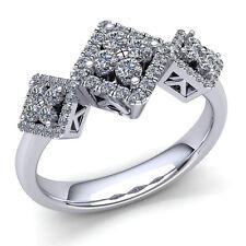 Natural 0.5carat Round Cut Diamond Ladies Fancy Engagement Ring 10K Gold