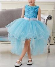 Vestito Cerimonia Compleanno Bambina Girl Princess Party Dress 2-10 Y 00065 P