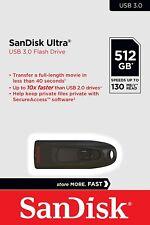 SanDisk Cruzer Ultra 16GB 32GB 64GB 128GB 256GB 512GB USB 3.0 SD CZ48 130mb LOT