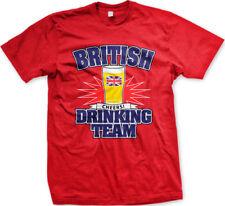 British Drinking Team Cheers Great Britain Alcohol Health Toast GB Men's T-Shirt