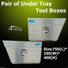 F/P Pair Tool Box Under Tray Body Aluminium UTE Truck Toolbox 750 250