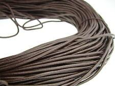 Lederschnur (ab 0,48€/m) Rund 3 mm. Braun. Lederband. Länge: wählbar