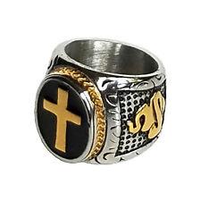 Men's Cross Titanium Steel Ring, Men's Band