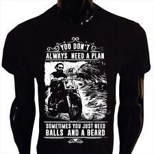 Sometimes You Just Need Balls and a Beard T-Shirt Mens Funny Biker BB4