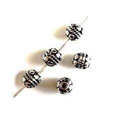 Intercalaires spacer _ Métal argenté 6X5,5mm _ Perles apprêts créa bijoux _ A265