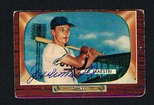 Joe De Maestri No. 176 signed autograph auto 1955 Bowman Baseball Trading Card