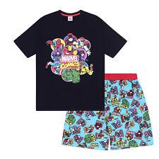 dbf0e001c4 Marvel Comics Hulk Spiderman Iron Man Official Mens Loungewear Short Pyjamas