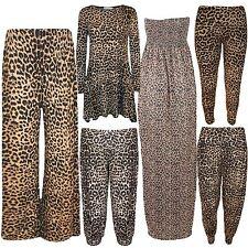 Nouvelle robe plus taille animal imprime léopard sauvage look Harem Legging Pantalon Palazzo