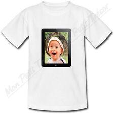 T-shirt Bébé Cadre Photo Ipad personnalisé avec votre photo