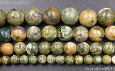 "Natural Rhyolite Kambaba Jasper Gemstone Round Beads 6mm 8mm 10mm 12mm 15.5"""