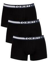 Tommy Hilfiger Men's 3 Pack Trunks, Black
