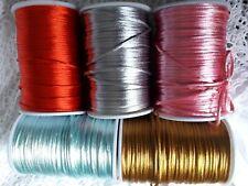 cordon queue de rat nylon satin corde fil bijoux noeuds bonbonnière 2mm / 5M