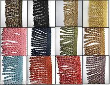 Premium Quality Bullion 5cm Fringe & Decorative Braid Furnishing Trimming 17col