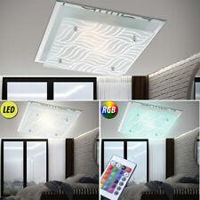 LED RVB Luminaire de plafond ess chambre cuisines VERRE argent Changeur couleur