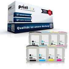 8x Kompatible Tintenpatronen für HP 88 Color Ink Set XXL Jumbo-Drucker Pro Serie