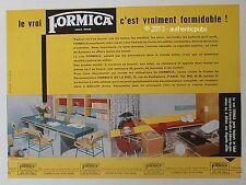 PUBLICITE FORMICA SALLE A MANGER SALON MEUBLES DESIGN VINTAGE DE 1956 FRENCH AD