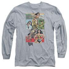 Wonder Woman Ww75 Comic Page Mens Long Sleeve Shirt Athletic Heather