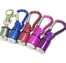 Mini Metal Dog Cat Pet Flashing Flash LED Light Safety Collar Tag Carabiner CA