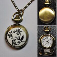 Orologio da tasca Ø 27 MM SMALTATO con catenella CATENA Schwalbe RAMI color oro