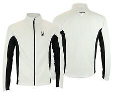 Spyder Men's Constant Full Zip Sweater, White / Black