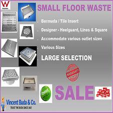 Small Floor Shower Bathroom Drain Grate Waste Tile Insert Heelguard Bermuda S/S