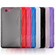 S Line Hülle für Sony Xperia Z1 Compact Tasche Case Silikon Cover + Schutzglas