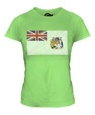 BRITISH ANTARTIC TERRITORY SCRIBBLE FLAG LADIES T-SHIRT TEE TOP GIFT SHIRT