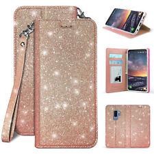 For Galaxy Note 8 BLING Glitter Diamond Folio Wallet Diary Flip Kickstand Case