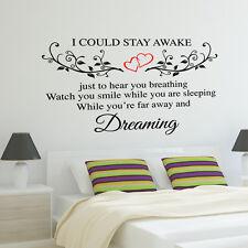 Aerosmith wall sticker breathing quote bedroom romance lyrics music decal w154