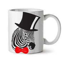 Sir Hipster Zebra Fashion NEW White Tea Coffee Mug 11 oz | Wellcoda