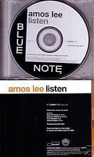 AMOS LEE Listen w/ DOYLE BRAMHALL PROMO radio DJ CD Single 2008 MINT USA