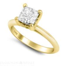 Princess Cut Diamond Ring 14K Yellow Gold VS1/F 1.75 CT Engagement Enhanced