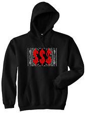 Kings Of NY Money Bandana Pullover Hoody Sweatshirt Gang Hood