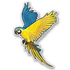 2 x Exotic Bird Vinyl Sticker iPad Laptop Helmet Parrot Macaw Flying Gift #4479