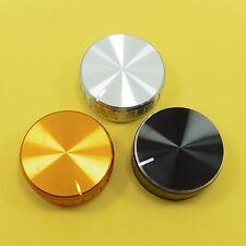 40 x 17 mm Arbre Potentiomètre Bouton en Aluminium 6 mm Contrôle Caps moleté pot